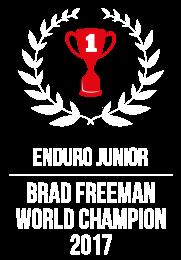 Brad Freeman Junior World Champion 2017